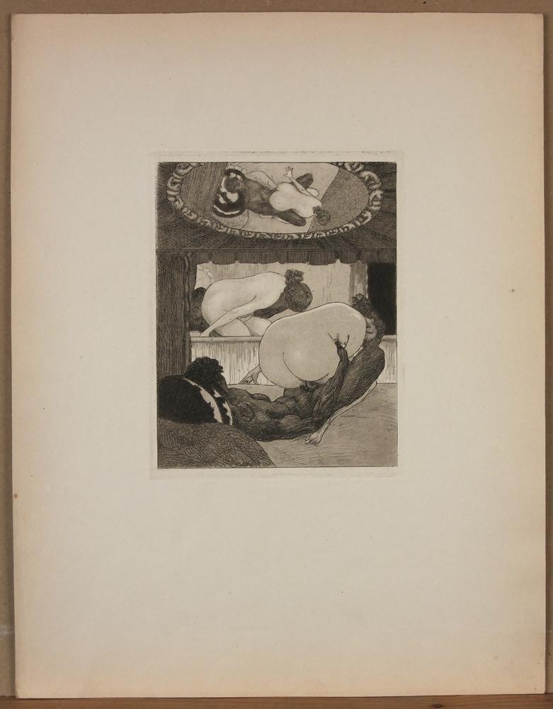 f v bayros umkreis erotische darstellung 2 9 rad pap um 1900 ebay. Black Bedroom Furniture Sets. Home Design Ideas